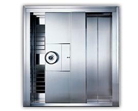 stainless steel sliding vault door
